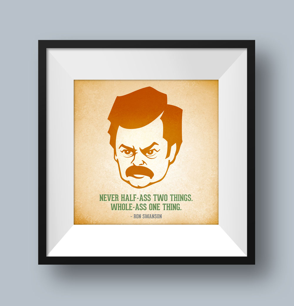 Ron Swanson Illustration
