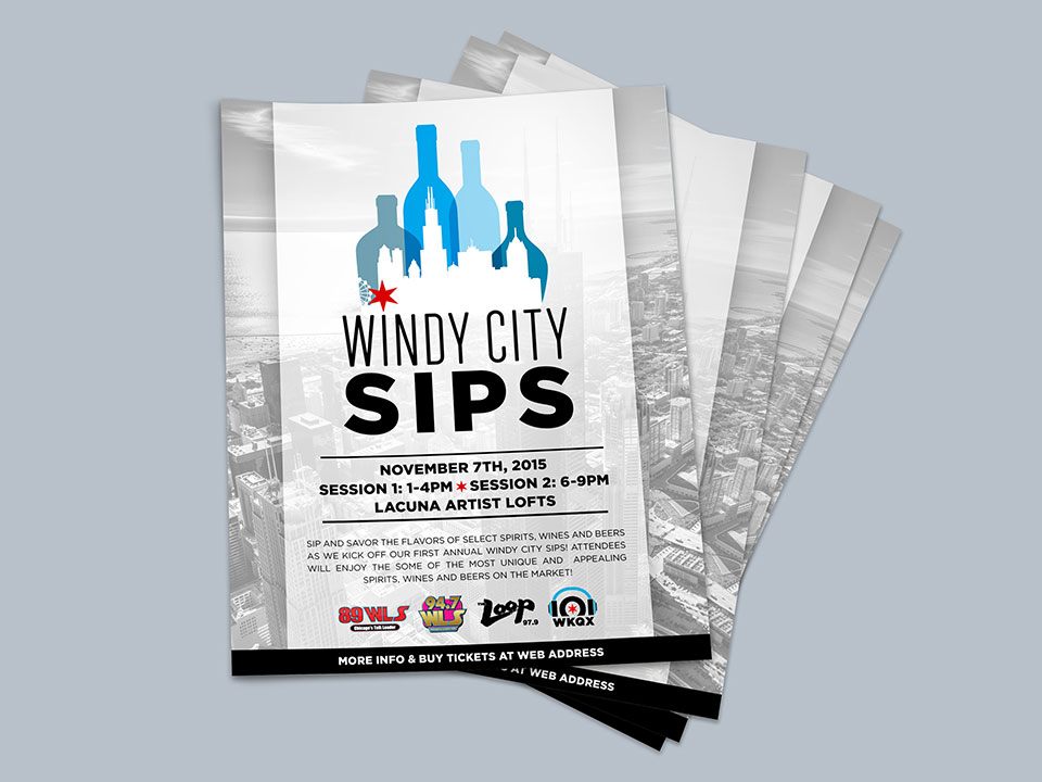 Windy City Sips - Flyer