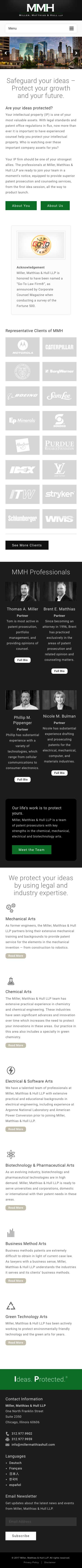 Miller Matthias & Hull - New Homepage - iPhone View
