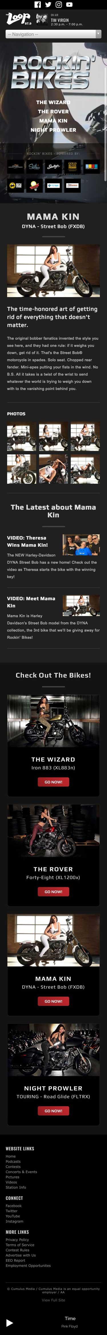 Rockin' Bikes - Mama Kin Page - iPhone View