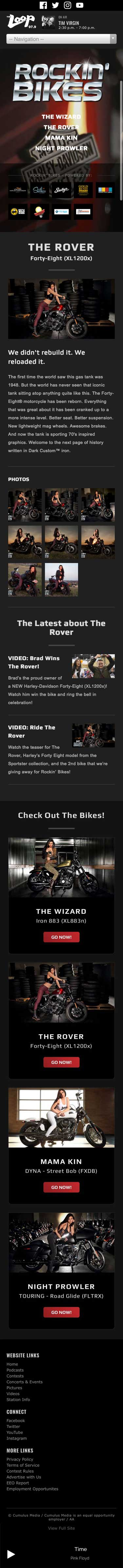 Rockin' Bikes - The Rover Page - iPhone View