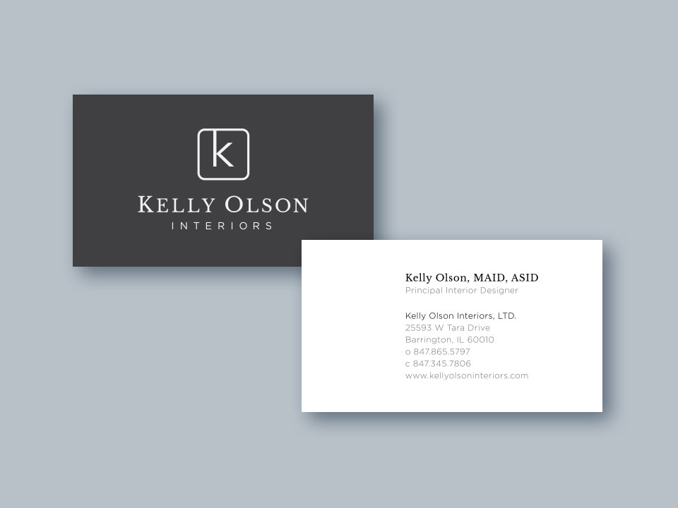 Kelly Olson Interiors - Business Card