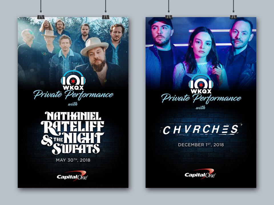 101WKQX Private Performance - Posters