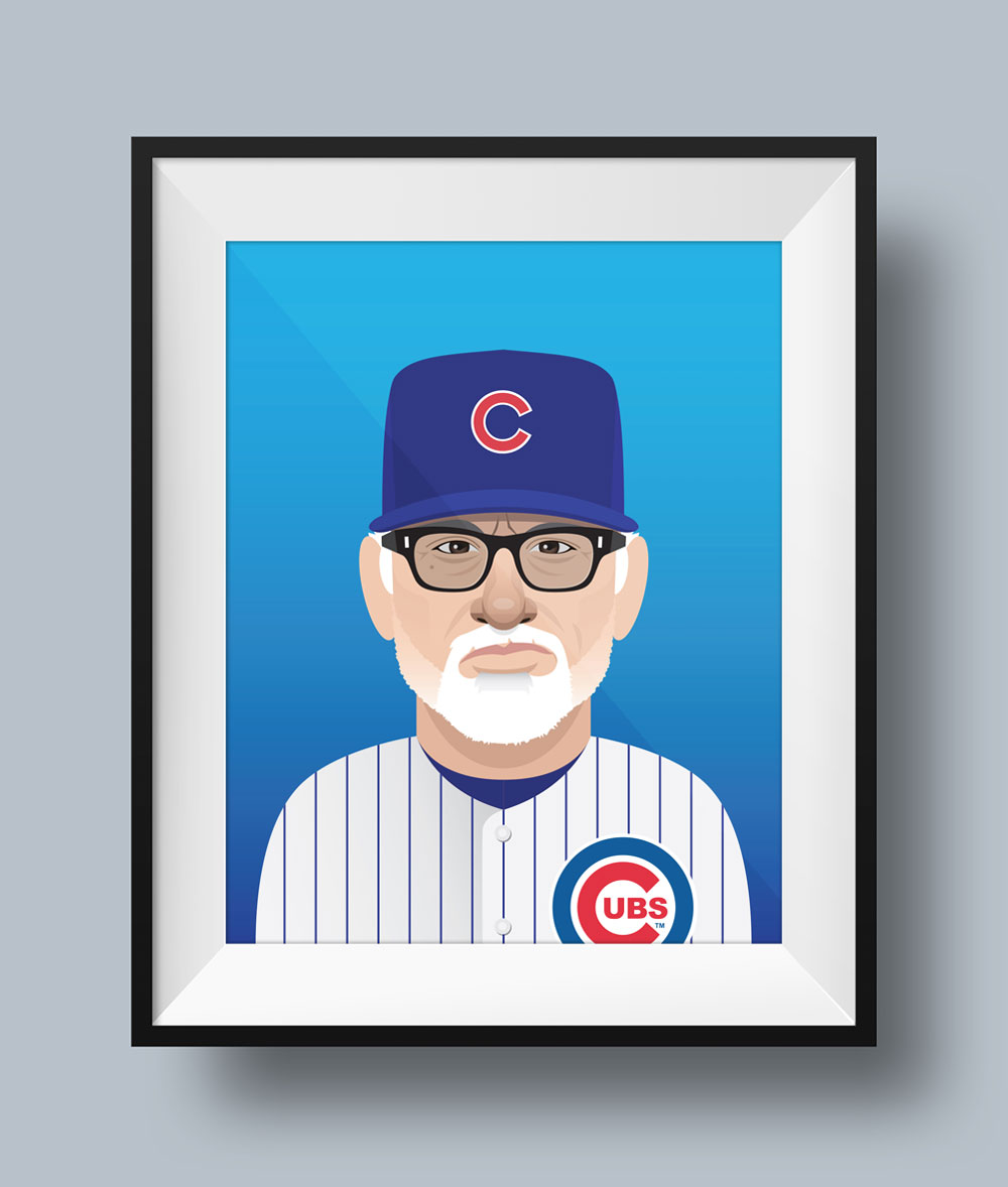 Joe Maddon Illustration