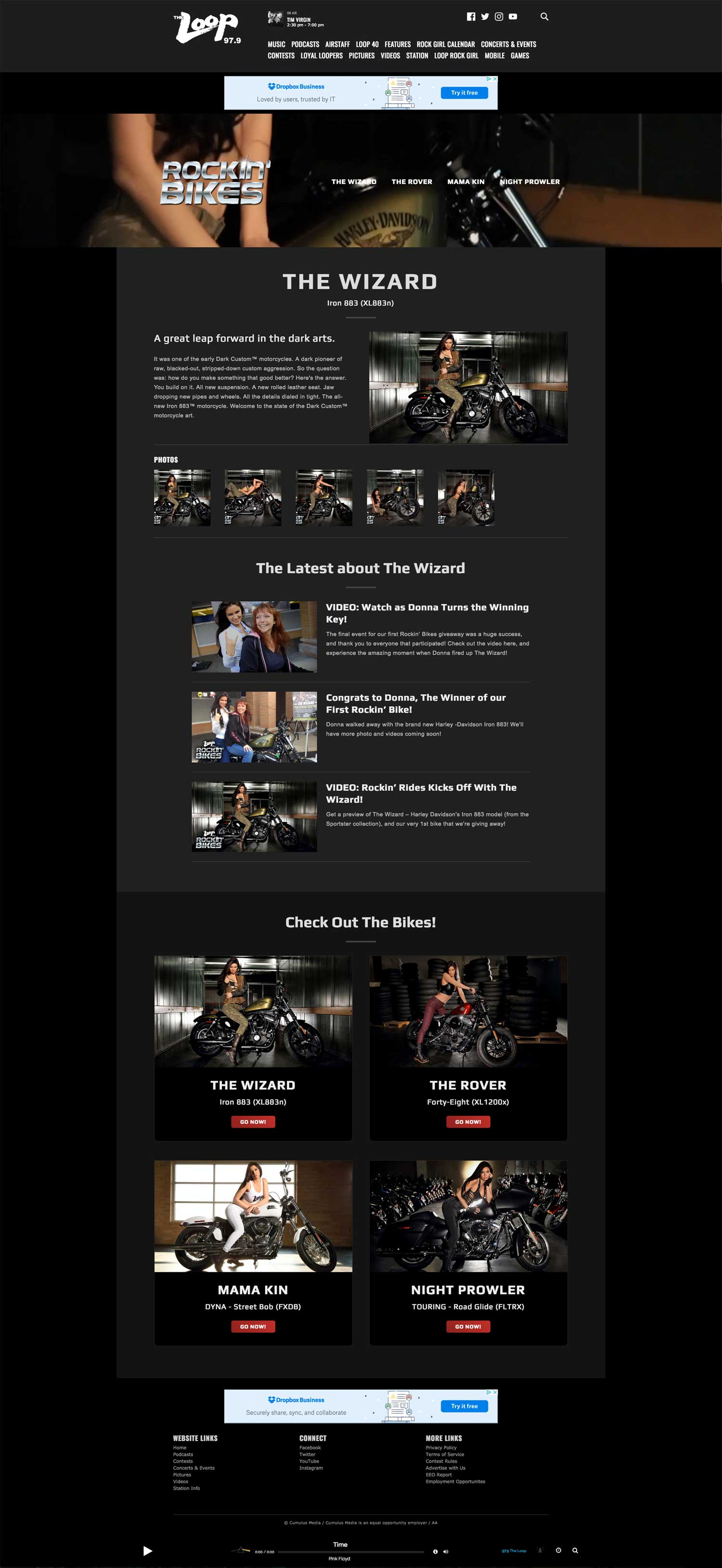 Rockin' Bikes - The Wizard Page - Browser View