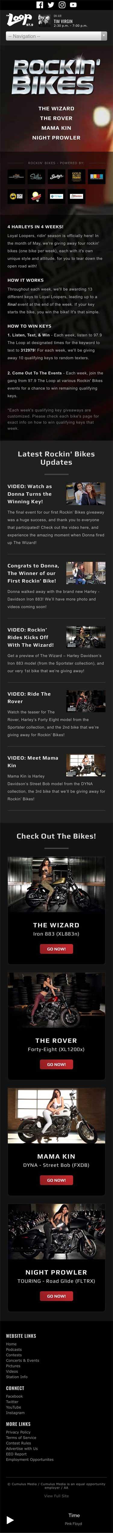 Rockin' Bikes - Main Landing Page - iPhone View