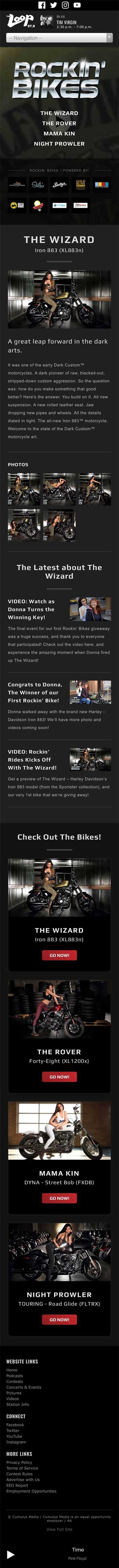 Rockin' Bikes - The Wizard Page - iPhone View
