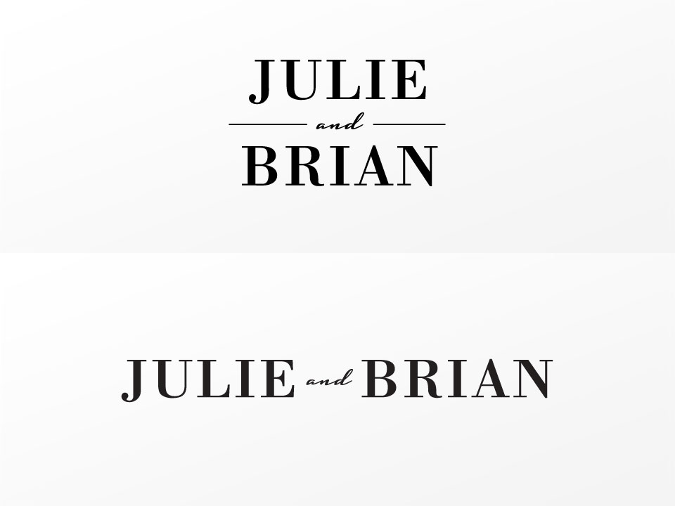 Julie and Brian - Alternative Mark