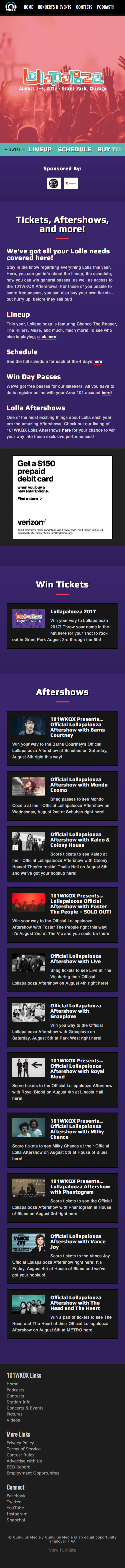 Lolla - Current Year Landing Page - iPhone