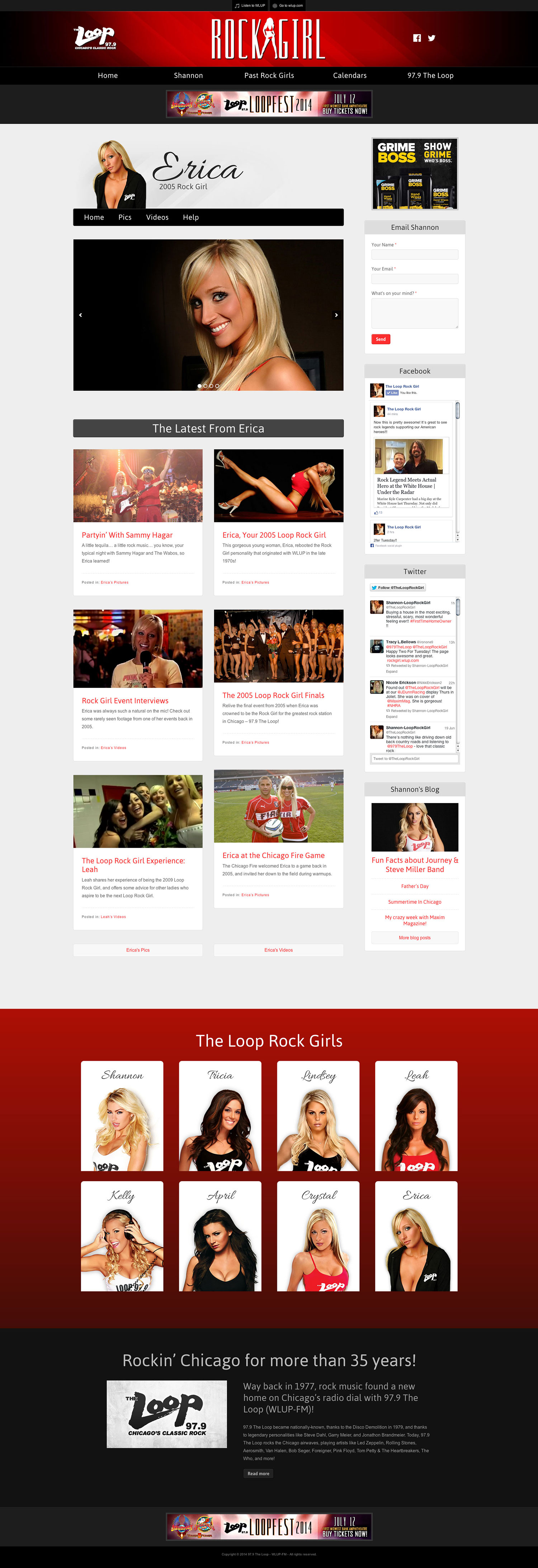 The Loop Rock Girl - Erica Page - Browser View