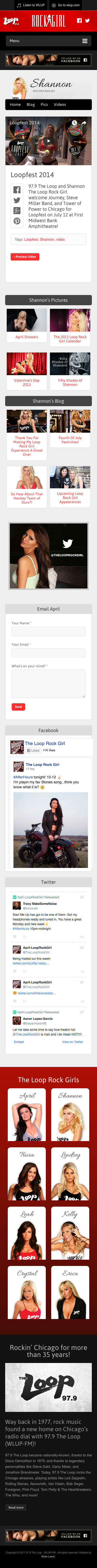 The Loop Rock Girl - Sample Video Post - iPhone View