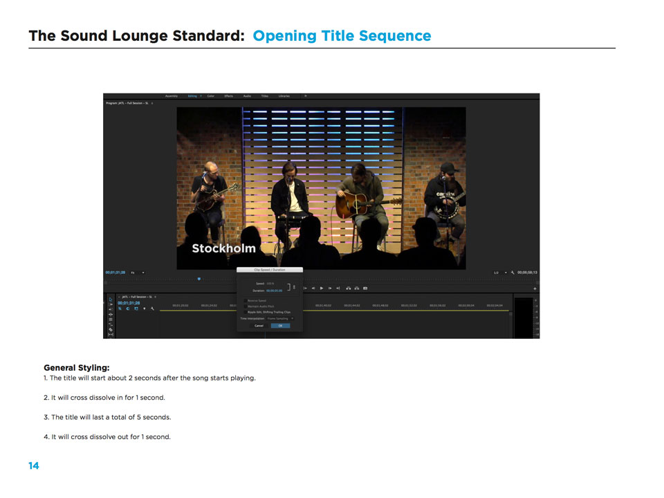 The Sound Lounge - Video Standards
