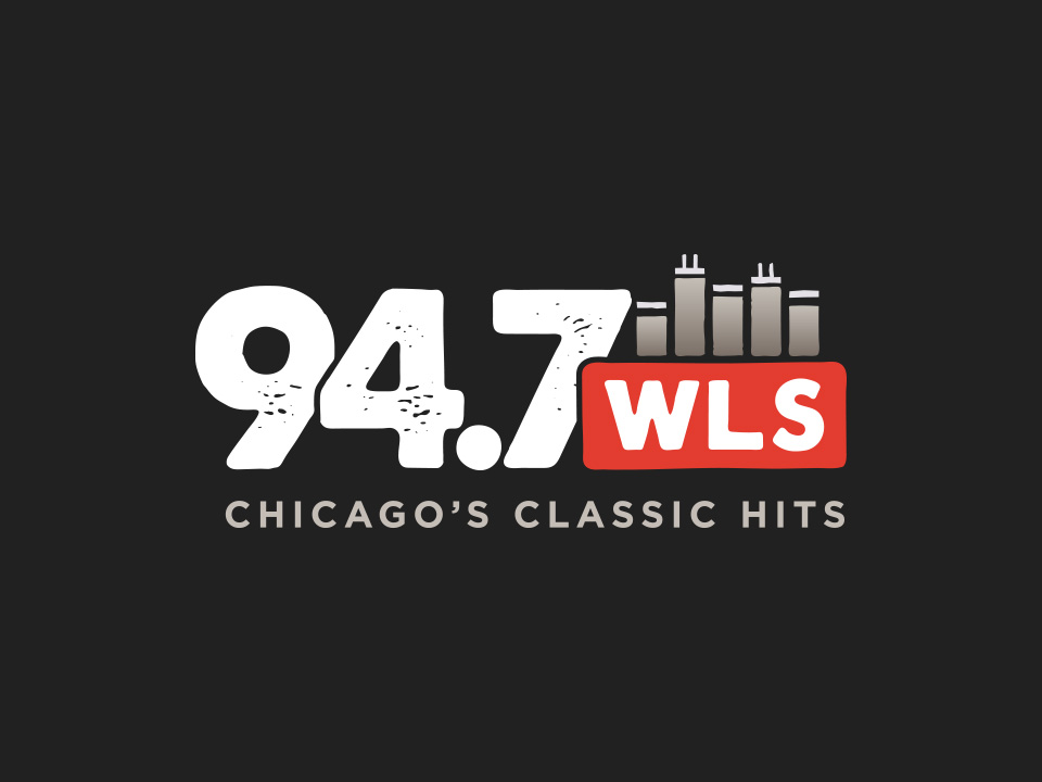 94.7 WLS Logo - Dark Background