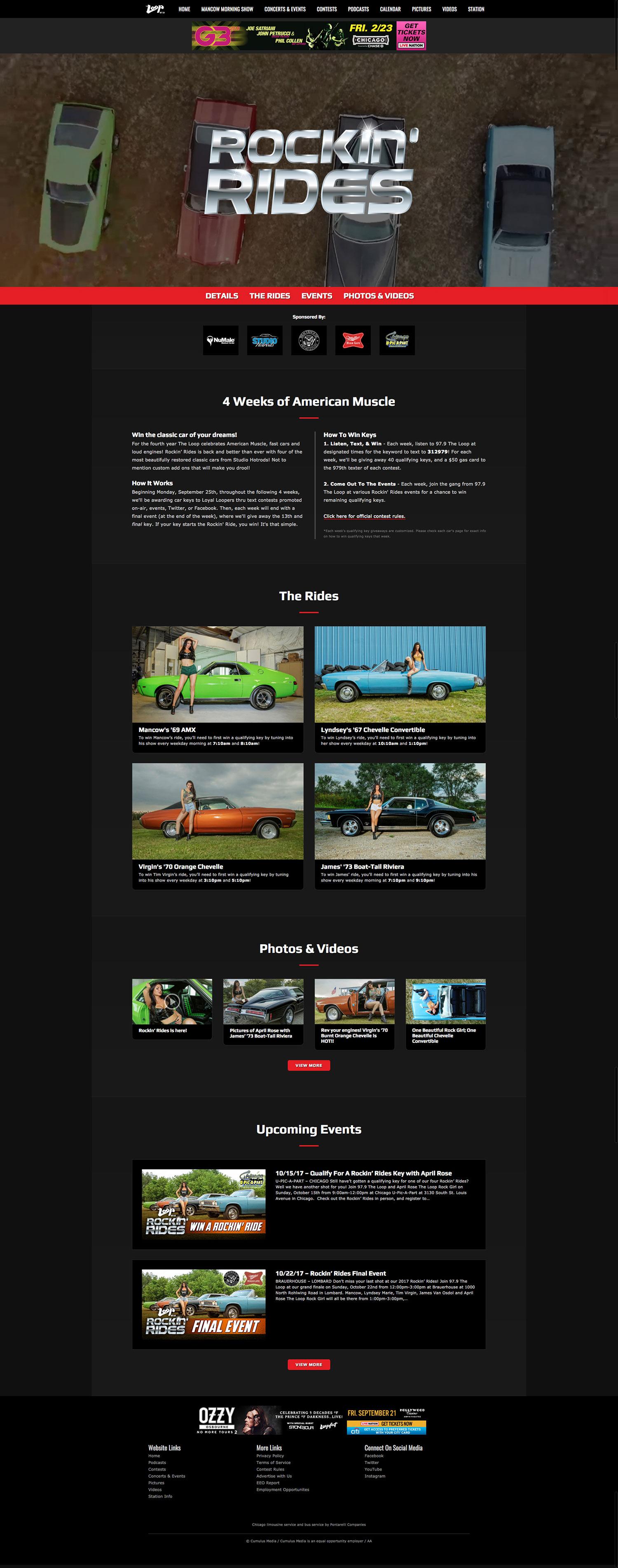 Rockin' Rides - Landing Page - Browser