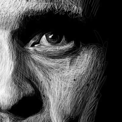 Johnny Cash Illustration Detail