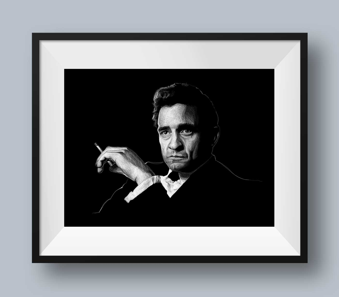 Johnny Cash Portrait, #2