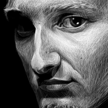 Layne Staley Illustration Detail